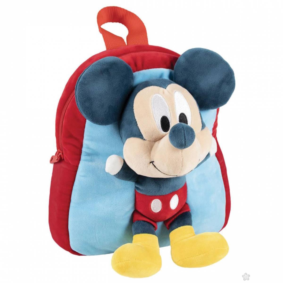 Ranac za vrtić Mickey sa plišanom igračkom 2100002954