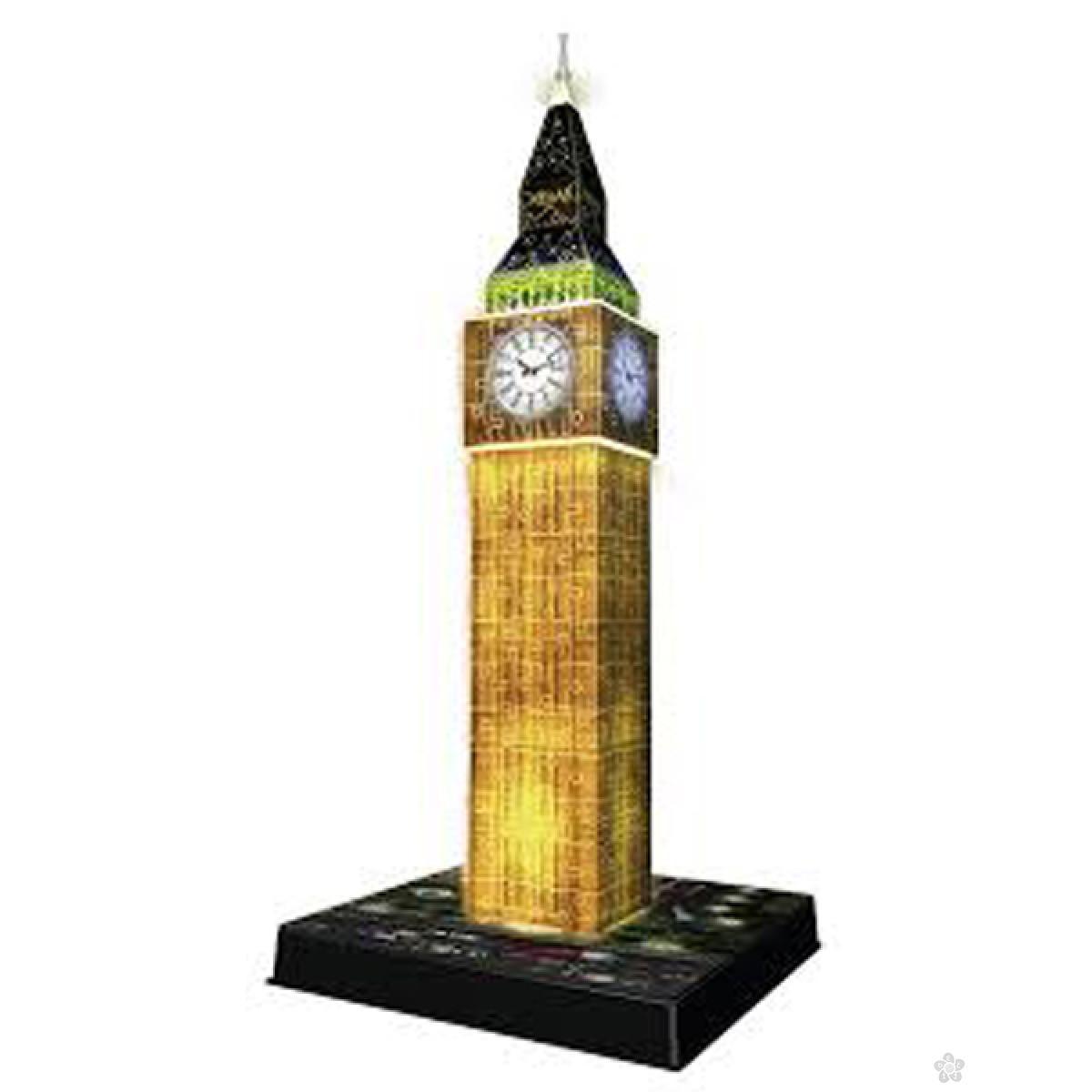 Ravensburger 3D puzzle Big Ben noću RA12588