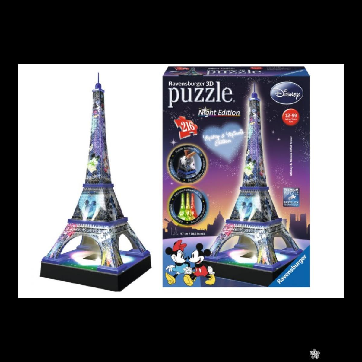 Ravensburger 3D puzzle Disney Ajfelov toranj, RA12520