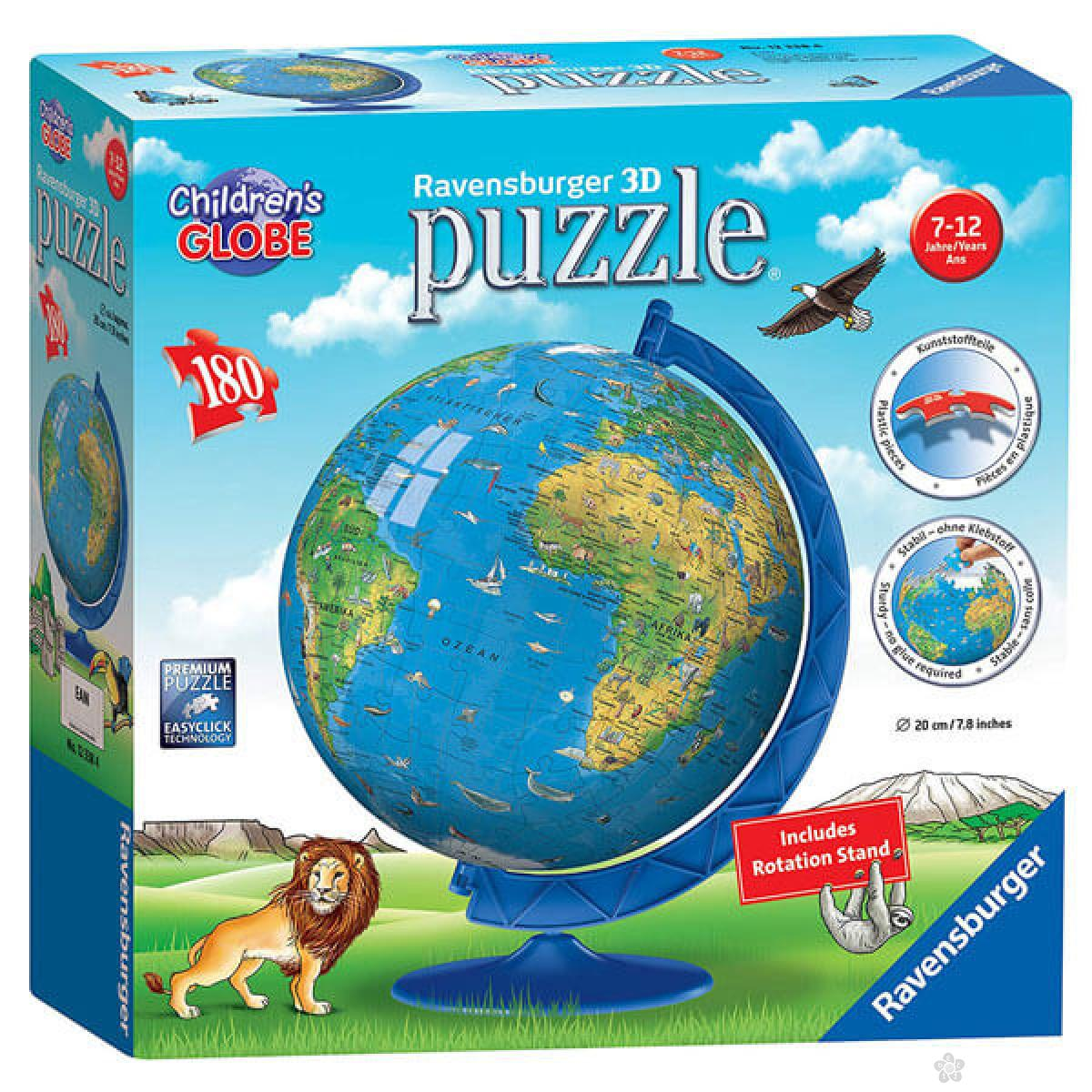 Ravensburger 3D puzzle (slagalice) - Dečiji globus, RA12338