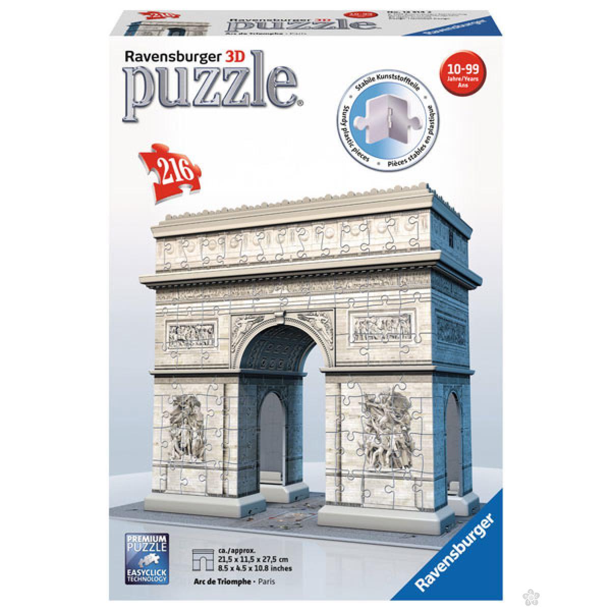 Ravensburger 3D puzzle Trijumfalna kapija u Parizu  RA12514