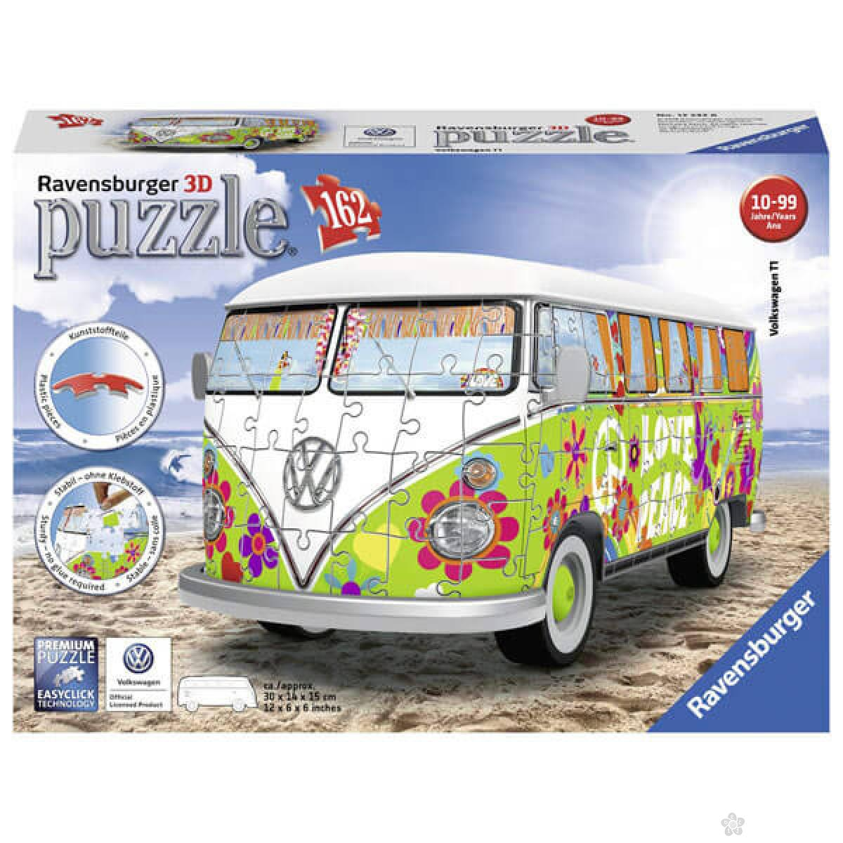 Ravensburger 3D puzzle Volkswagen kombi hipi stil RA12532