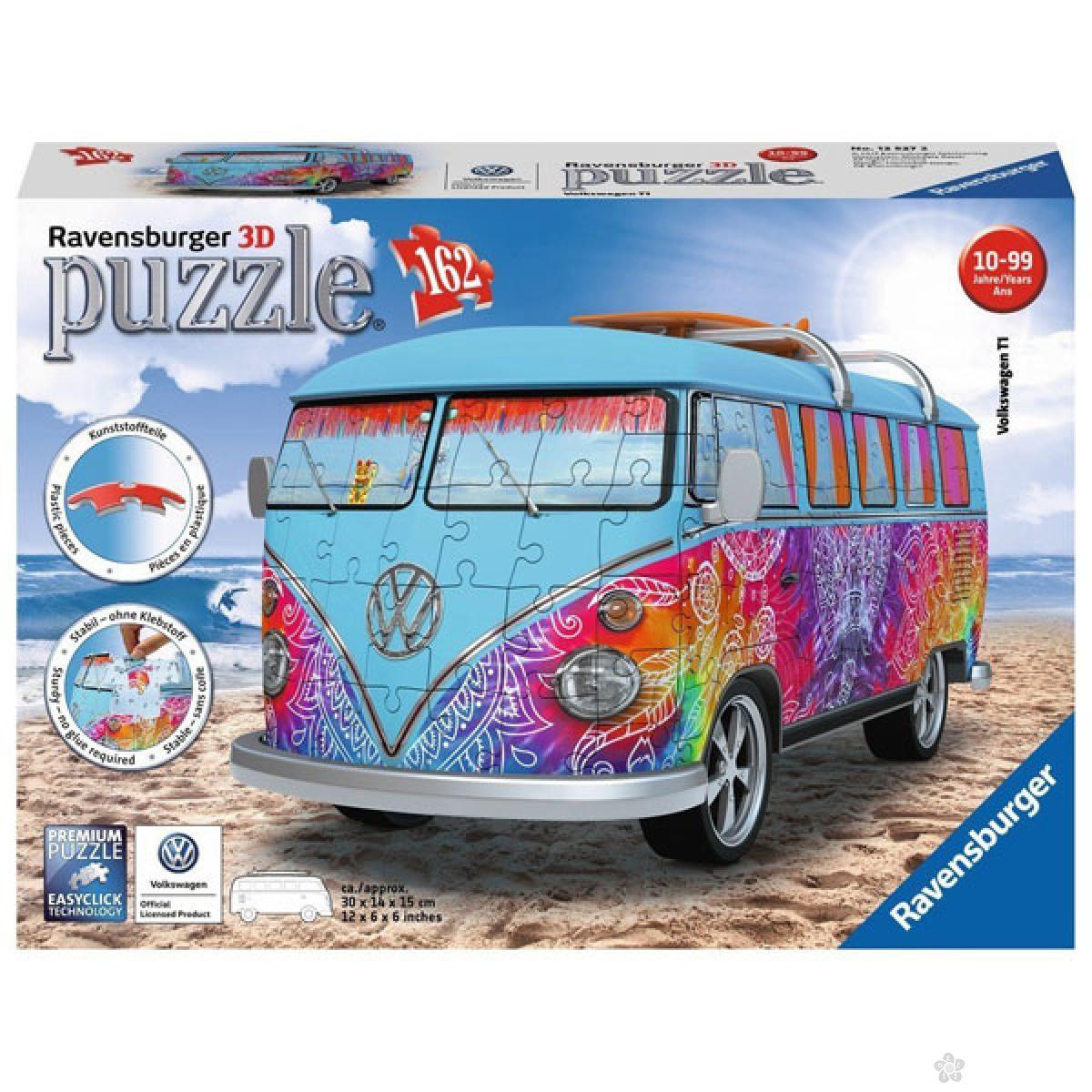 Ravensburger 3D puzzle Volkswagen kombi Indijs RA12527