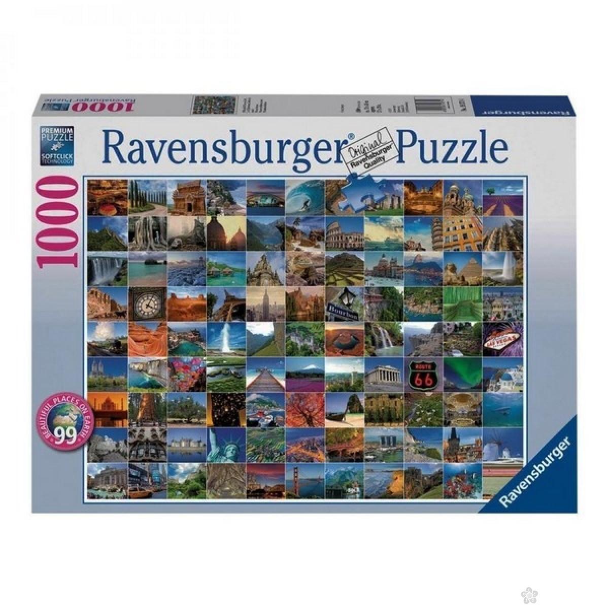 Ravensburger puzzle 99 lepih mestana zemlji RA19371
