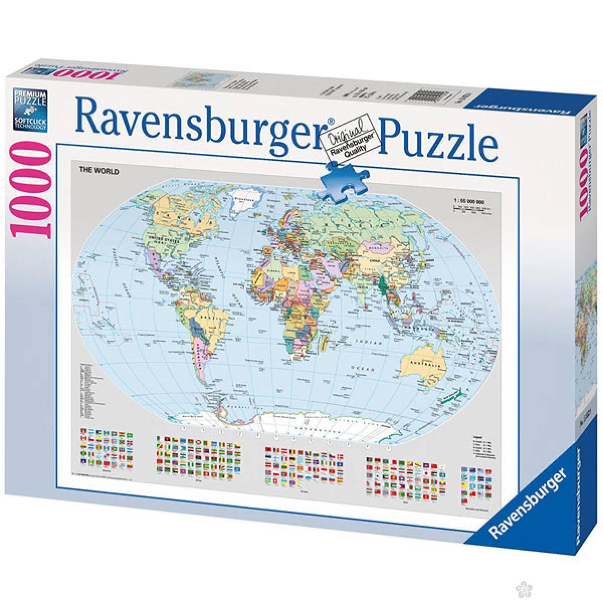 Ravensburger puzzla Mapa Sveta RA15652