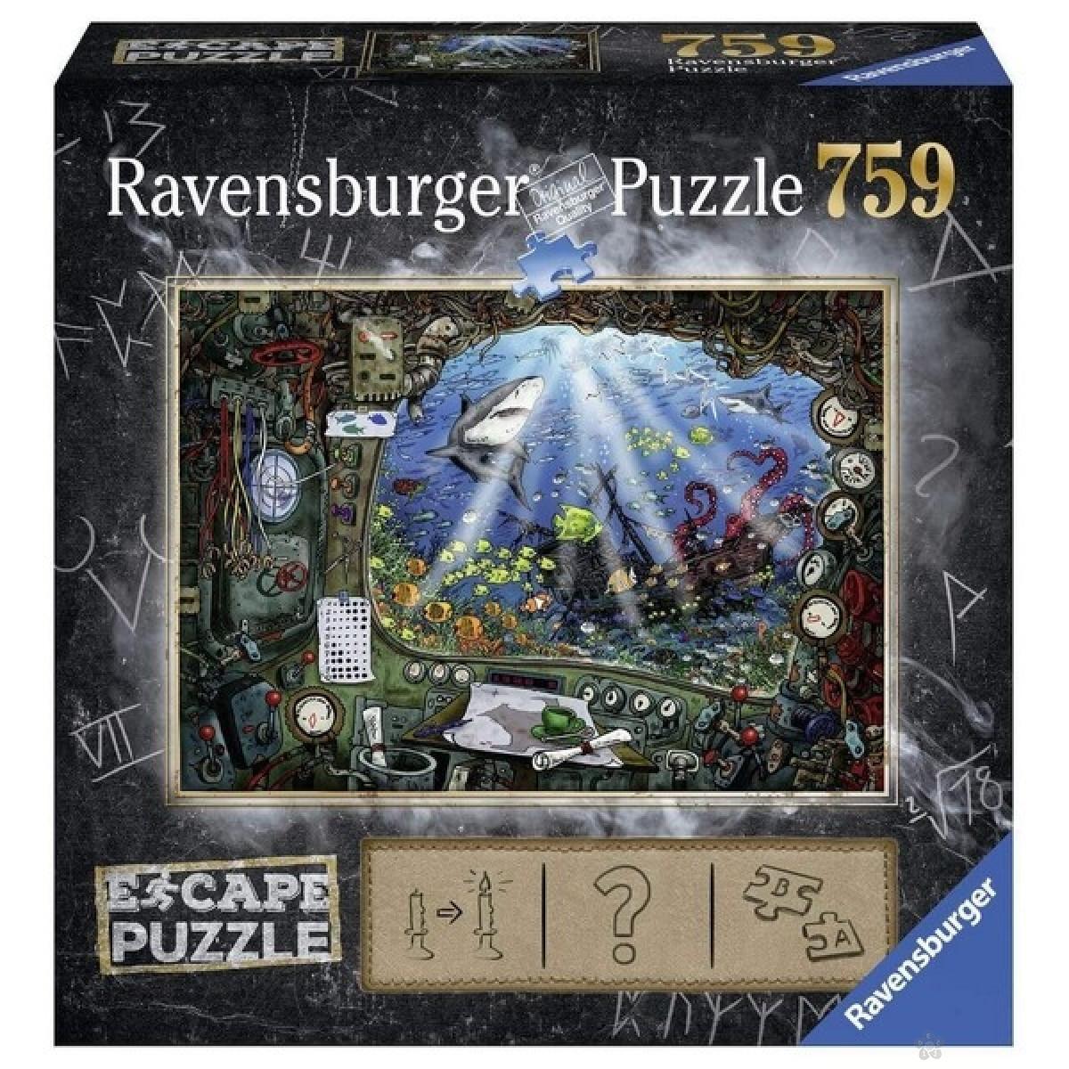 Ravensburger puzzle (slagalice) - Podmornica 759 delova