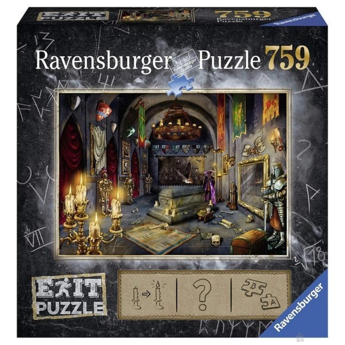 Ravensburger puzzle (slagalice) - Vampirski zamak 759 delova