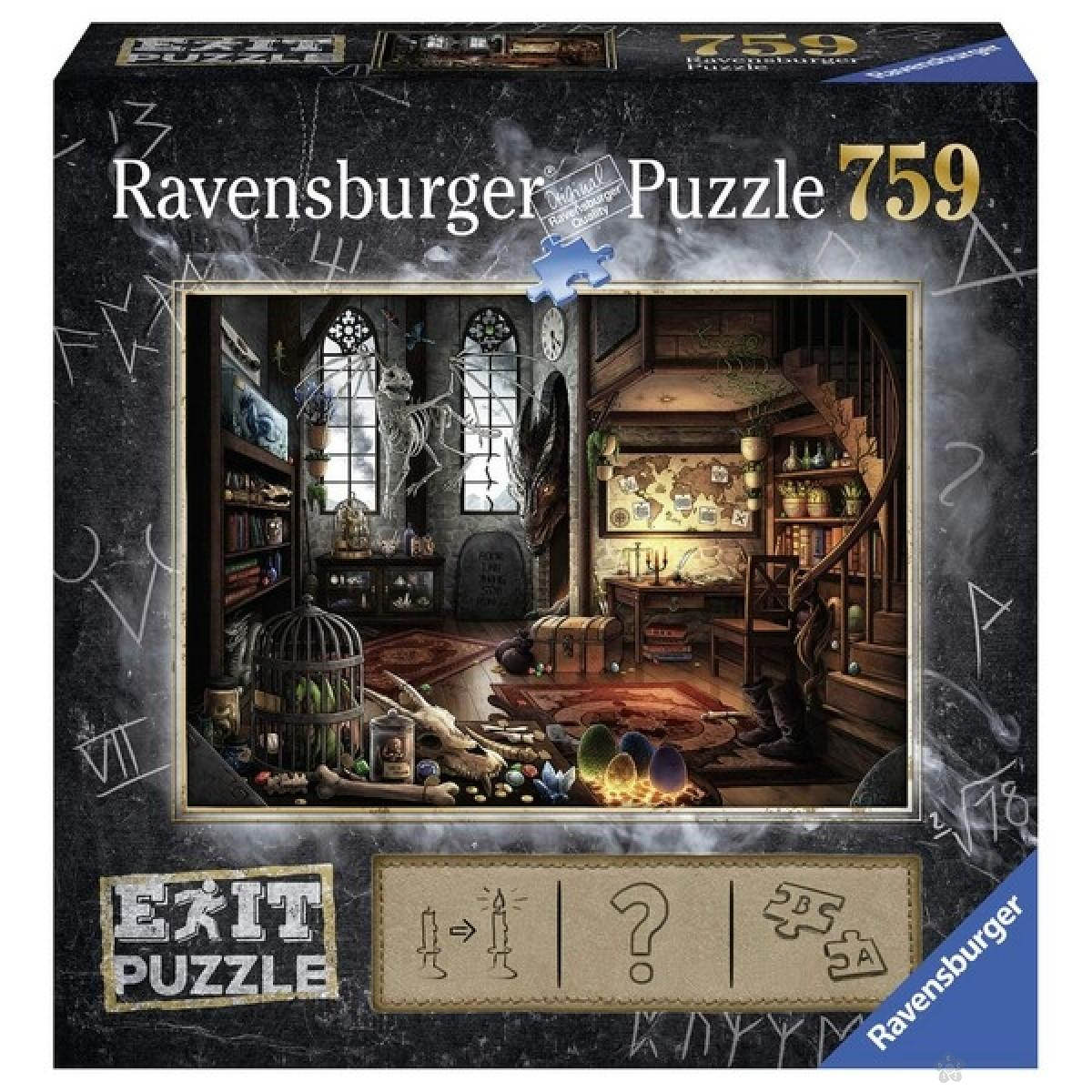 Ravensburger puzzle (slagalice) - Zmajeva laboratorija 759 delova