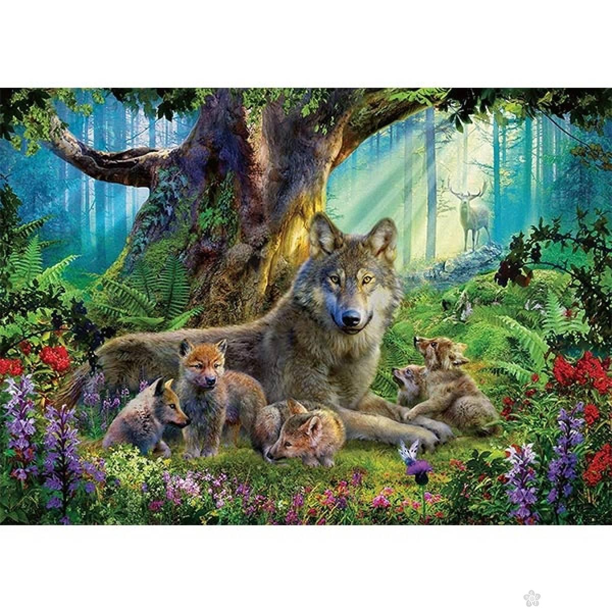 Ravensburger puzzla Wolves in The Forest RA15987