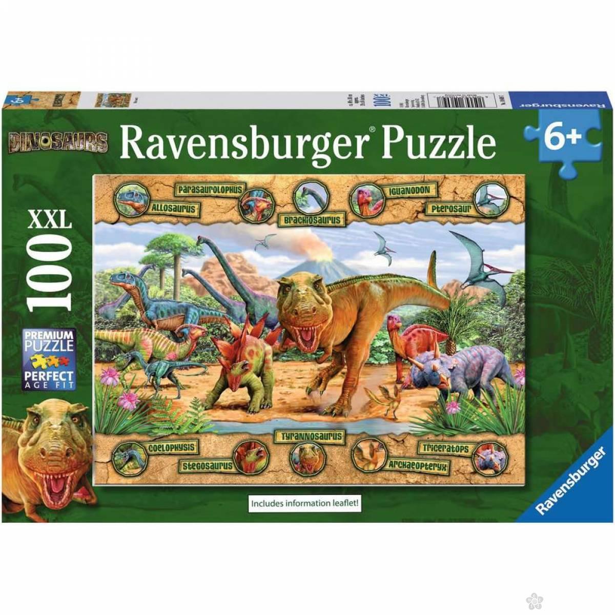 Ravensburger puzzle Dinosaurusi sa imenima RA10609