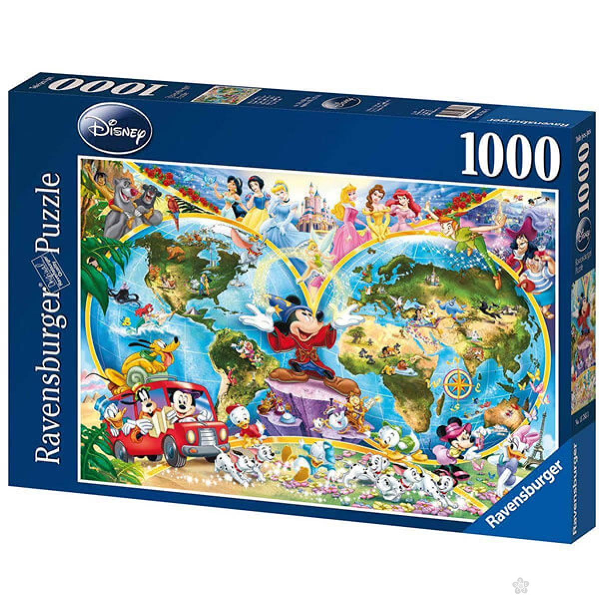 Ravensburger puzzle Diznijeva mapa sveta RA15785
