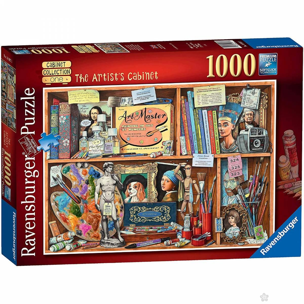 Ravensburger puzzle Kabinet umetnika RA14997