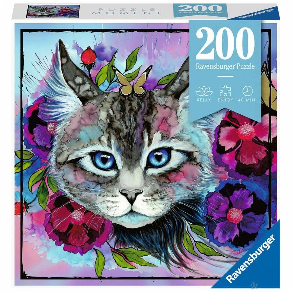 Ravensburger puzzle Mačka u bojama RA12960