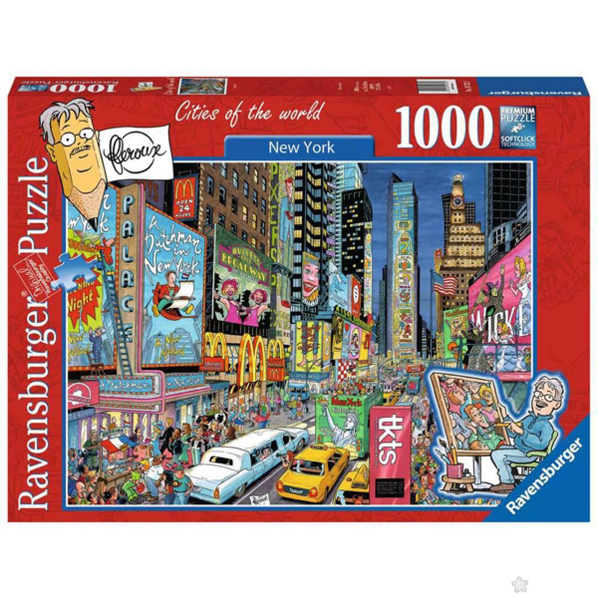 Ravensburger puzzle Kartunizovan Njujork RA19732