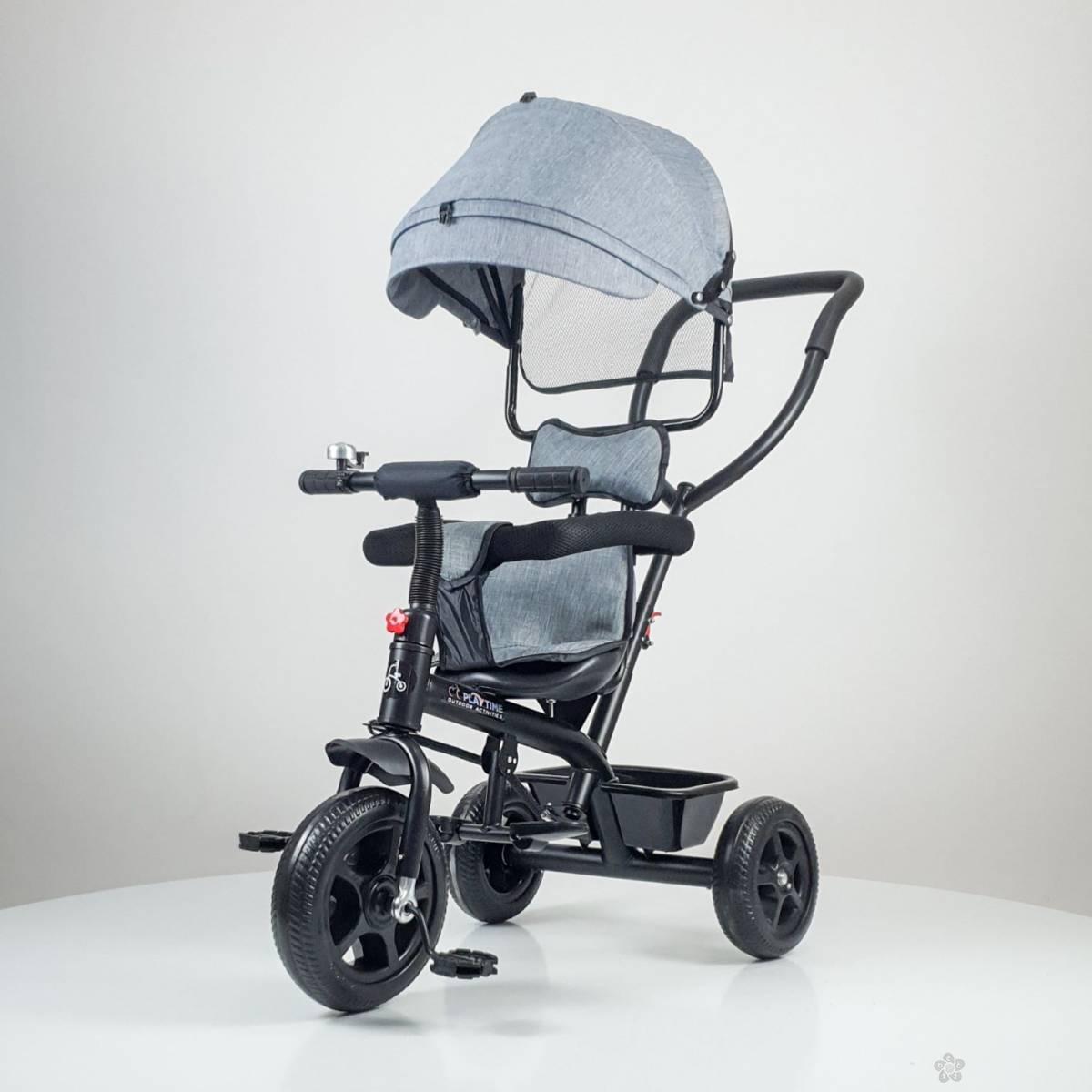 Tricikl Playtime Little model 415, sivi