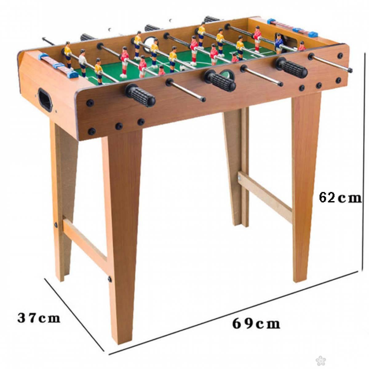 Veliki drveni stoni fudbal sa 18 igrača
